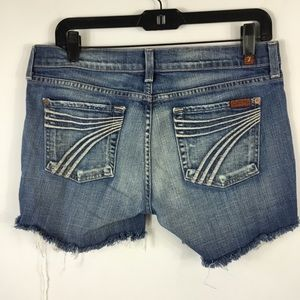 74AM 7 For All Mankind Dojo Shorts Womens Size 30